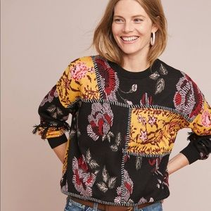 Anthropologie Laia Tabatha Patchwork Sweater